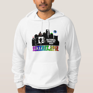 OUTFEST 2013 Men's White American Apparel Hoodie