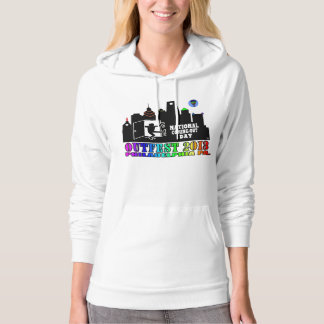 OUTFEST 2013 Women's White American Apparel Hoodie