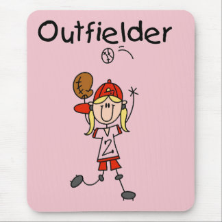 Outfielder-Girl Baseball Tshirts and Gifts Mouse Pad