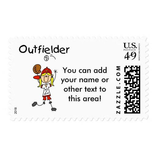 Outfielder-Girl Baseball Tshirts and Gifts Postage