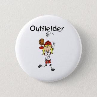 Outfielder-Girl Button
