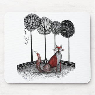 Outfox the fox mouse pad