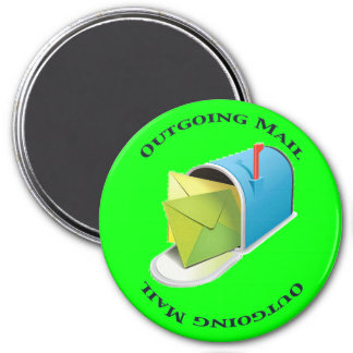 Outgoing Mail 3 Inch Round Magnet