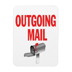 Outgoing Mail Pickup Magnet at Zazzle