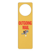Outgoing Mail pickup sign