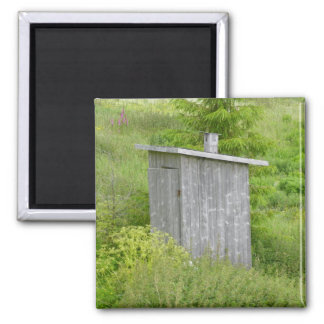 Outhouse 2 Inch Square Magnet