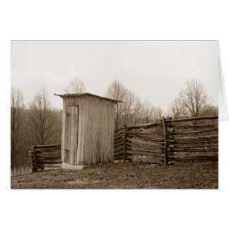Outhouse and Rail Fence Card