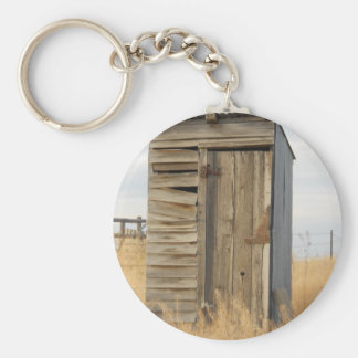 """Outhouse"" Basic Round Button Keychain"