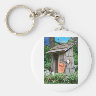 outhouse basic round button keychain