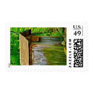 Outhouse - Casco, Maine Postage Stamp