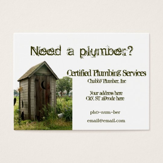 Outhouse Chubby Business Cards for plumber
