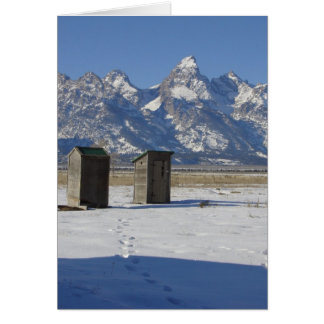 Outhouse Deluxe Greeting Cards