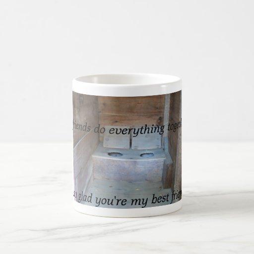 Outhouse Friends Classic White Coffee Mug