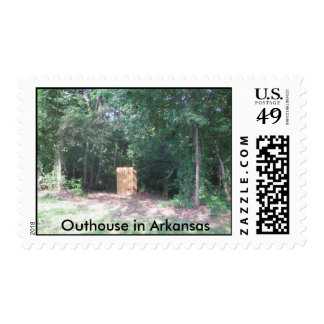 Outhouse in Arkansas Postage