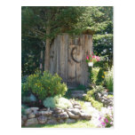 outhouse in Maine Post Card