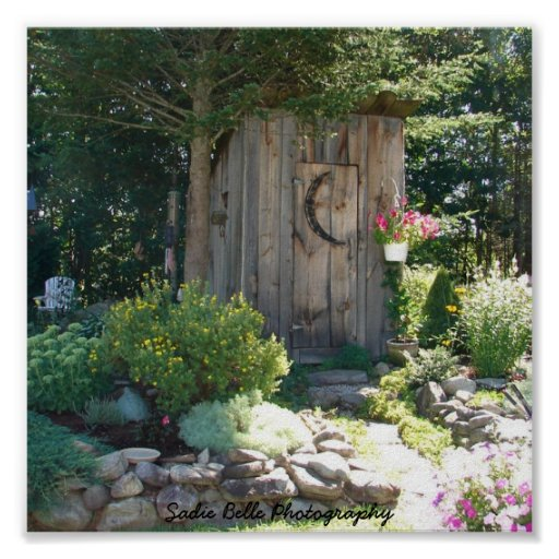 Outhouse in Maine Poster
