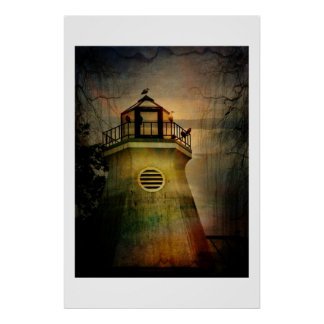 Outhouse in the Lighthouse on the Hudson Posters