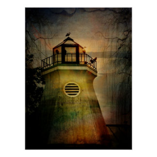 Outhouse in the Lighthouse on the Hudson Print