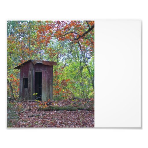 Outhouse in thr Fall Photographic Print