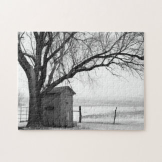 Outhouse in Winter Puzzle