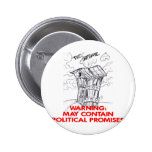 Outhouse May Contain Political Promises Pinback Buttons