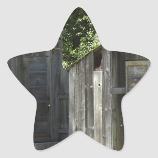 Outhouse Star Sticker