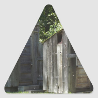 Outhouse Triangle Sticker