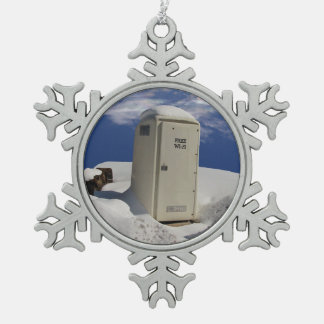 OutHouse WiFi ~ Pewter ornament