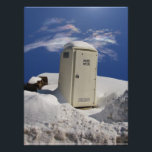 "OutHouse WiFi ~ Photo<br><div class=""desc"">A modern internet friendly portable outhouse sits frozen in a snow drift on a bright winter day,  waiting to serve.