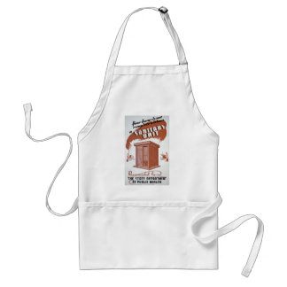 Outhouse WPA Poster Adult Apron