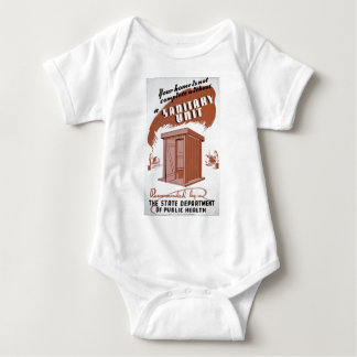 Outhouse WPA Poster Baby Bodysuit