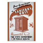 Outhouse WPA Poster Card