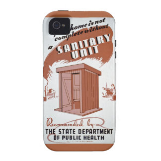 Outhouse WPA Poster iPhone 4 Cover