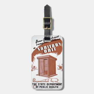 Outhouse WPA Poster Luggage Tag