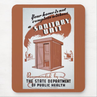 Outhouse WPA Poster Mouse Pad