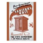 Outhouse WPA Poster Postcards