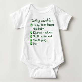 Outing Checklist - Child's Shirt