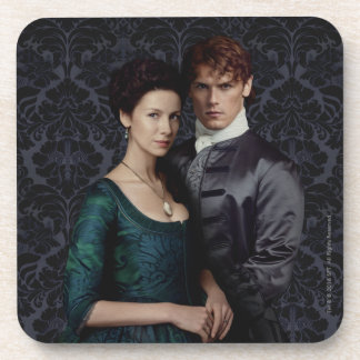 Outlander | Claire And Jamie Damask Portrait Drink Coaster