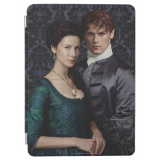 Outlander | Claire And Jamie Damask Portrait Ipad Air Cover at Zazzle
