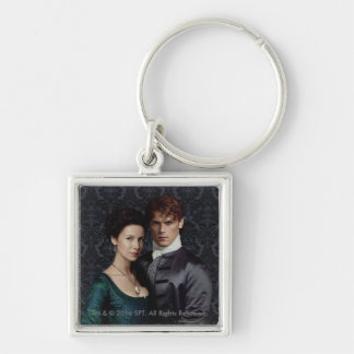 Outlander   Claire And Jamie Damask Portrait Keychain