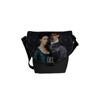 Outlander | Claire And Jamie Damask Portrait Messenger Bag