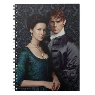 Outlander   Claire And Jamie Damask Portrait Notebook