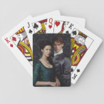 """Outlander   Claire And Jamie Damask Portrait Playing Cards<br><div class=""""desc"""">Photographic gallery image of Clair and Jamie together,  from Season 2 of the Outlander television series</div>"""