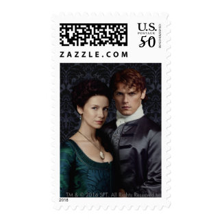 Outlander | Claire And Jamie Damask Portrait Postage