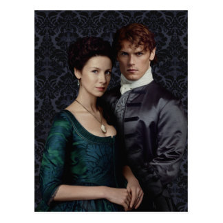 Outlander | Claire And Jamie Damask Portrait Postcard