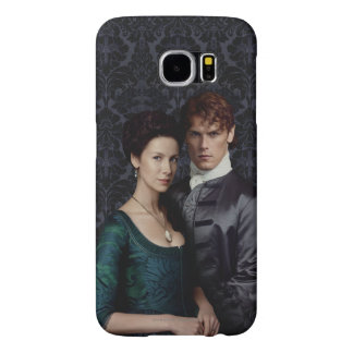 Outlander | Claire And Jamie Damask Portrait Samsung Galaxy S6 Case