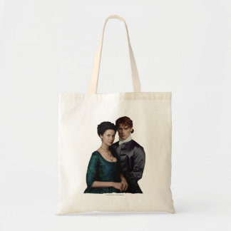 Outlander | Claire And Jamie Damask Portrait Tote Bag