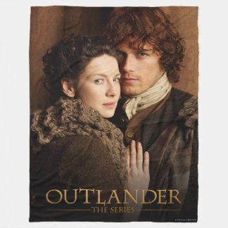 Outlander | Jamie & Claire Embrace Photograph Fleece Blanket