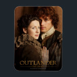"Outlander | Jamie &amp; Claire Embrace Photograph Magnet<br><div class=""desc"">Photographic gallery image of Jamie and Claire together,   from Season 1 of the Outlander television series</div>"