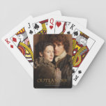 "Outlander | Jamie &amp; Claire Embrace Photograph Playing Cards<br><div class=""desc"">Photographic gallery image of Jamie and Claire together,   from Season 1 of the Outlander television series</div>"